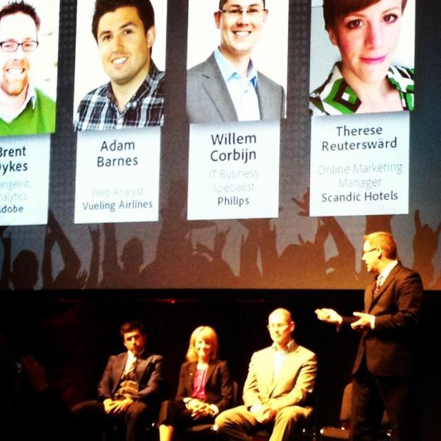 On the Analytics Rockstars Panel in London